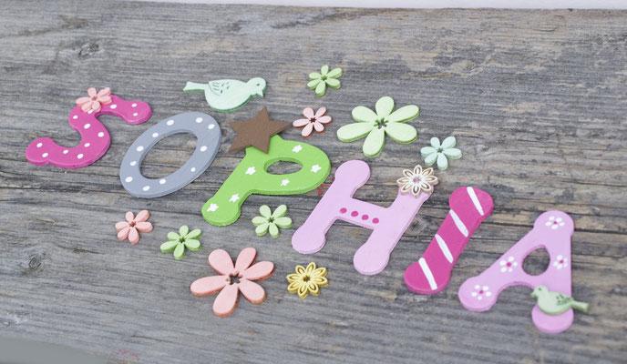 Holzbuchstaben Kinderzimmer - Vogelhaus zur Hochzeit -von Original ...