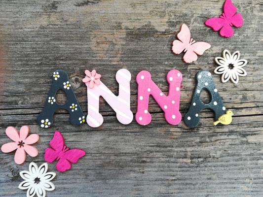 Holzbuchstaben kinderzimmer vogelhaus zur hochzeit von for Holzbuchstaben kinderzimmer