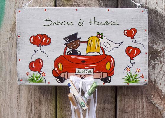 Turschilder Handbemalt Und Personalisiert Vogelhaus Zur Hochzeit