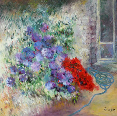 Splendeurs de printemps            Huile sur toile      90 x 90