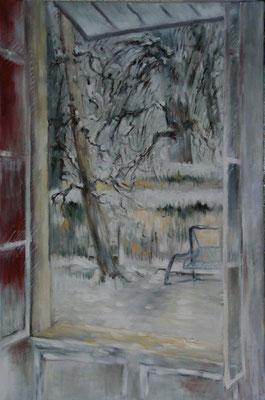 Jardin sous la  neige 2   Hhuile sur toile                      25M