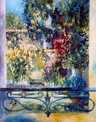 A la fenêtre                                                    Huile sur toile  40F