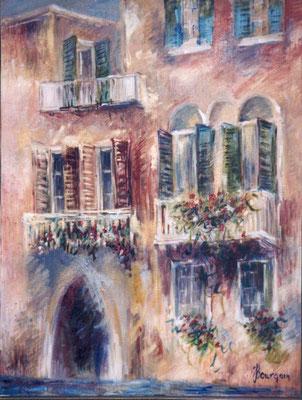 Venise - Le vieux Palais               Huile sur toile  25 M