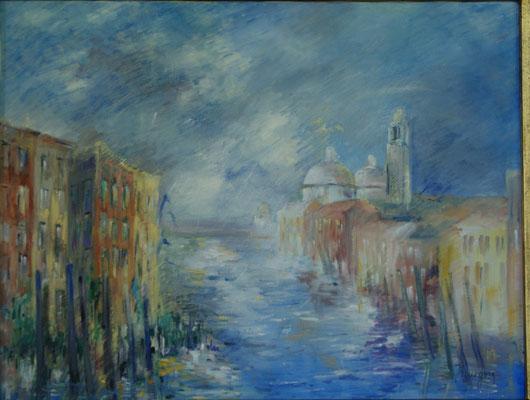 Venise - Canale Grande - Huile sur toile