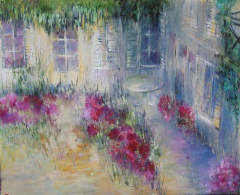 De la terrasse                     Huile  sur toile                     20 F