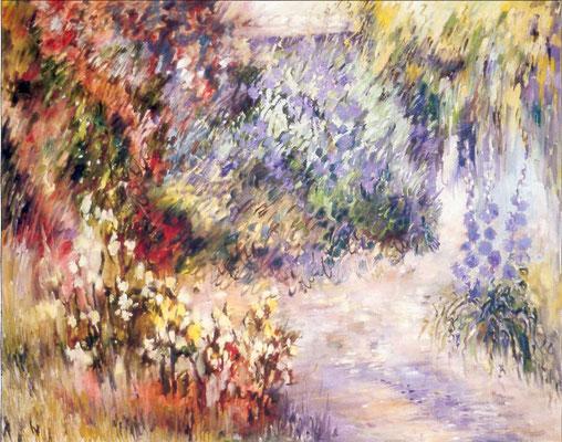 Les rosiers jaunes                          Huile sur toile            25F