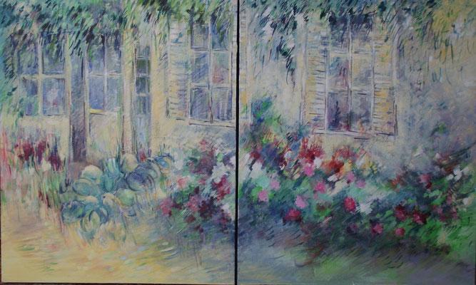Dyptique                                                  Huile sur toile   15F x 2