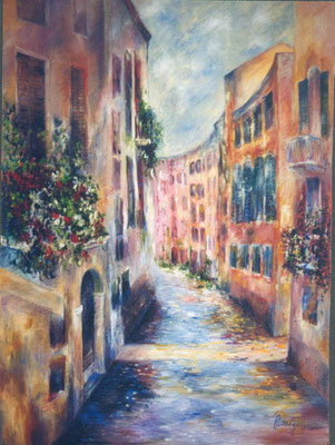 Venise  - Le Rio                            Huile sur Toile    60F