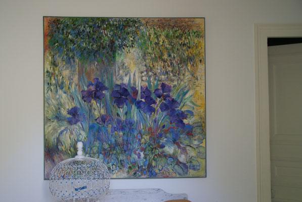 Iris                                   Huile sur toile              100 x 100