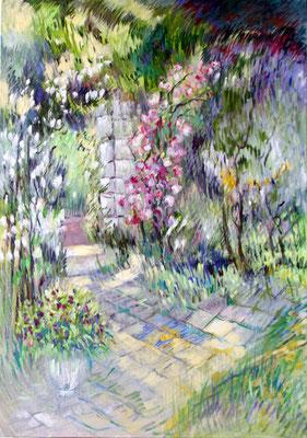 Fontainebleau Printemps             Huile sur toile  30P