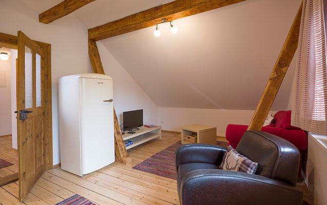 Wohnzimmer Ferienwohnung Kohl