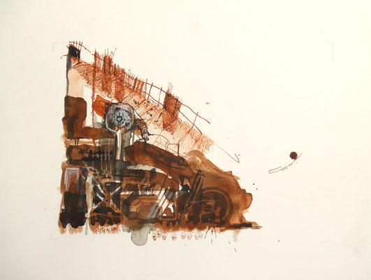 Schrott (Tusche, Papier) 2019