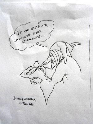 Missverständnisse der Geschichte: Divina comedia, 1. Fassung