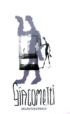 Giacometti Selbstgespräch. Siebdruck in 2 Farben (2005)