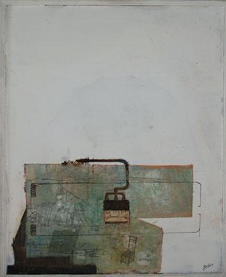 Interieur (Eitempera, Öl / Faserplatte)