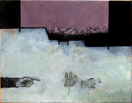 Blattzeiger (Eitempera, Öl, Leinwand) 40x60