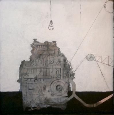 der große Generator (Eitempera,Öl,Spanplatte) 2016-18