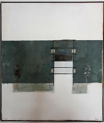 Gartentor (Eitempera, Öl, Leinwand) 80x70