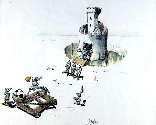 Knightball Freistoß