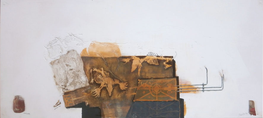 zwei Maulwürfe (2019) Eitempera, Öl, Holz Faserplatte)