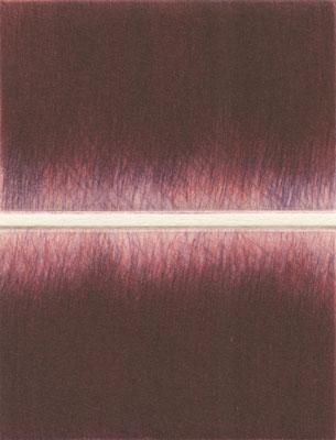 Eliana Bürgin-Lavagetti | Fadegrad 2020. Mezzotinto. Kupferplattenformat 7,5 x 4,5 cm, Blattgrösse 19,5 x 26 cm. Druck von vier Kupferplatten auf Zerkall Bütten 250g/m2. Drei Exemplare.