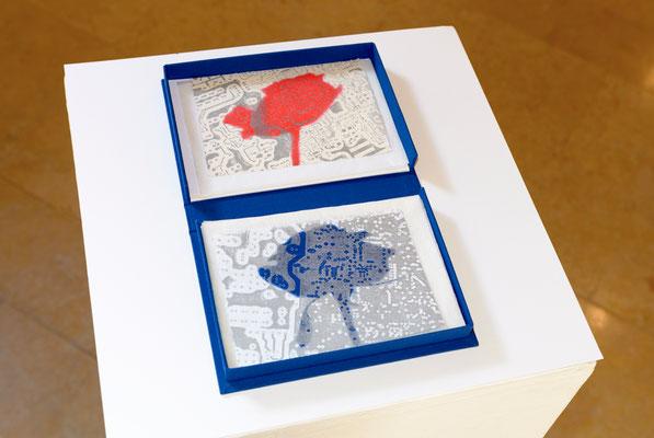 Eliana Bürgin | Postkarten, Ausstellung SchattenwurfSchatten, Trotte Arlesheim, Arlesheim, Schweiz | 2016