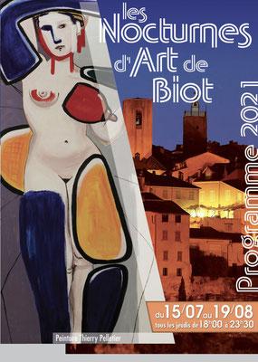 Nocturnes d'art de Biot , 2021, animations nocturnes, centre historique de Biot, artistes, musiciens...