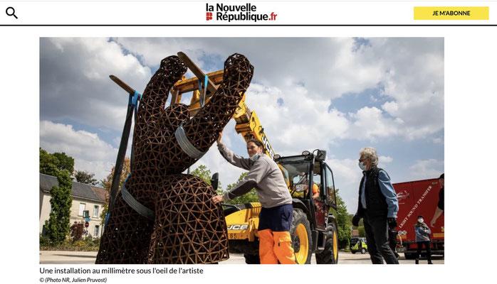 Exposition Marcoville,  sculptures monumentales, à  Fondettes, 2021