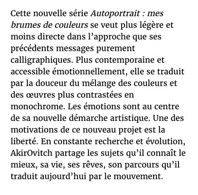 AkirOvitch, Nice Matin, Galerie Gabel, Biot, Côte d'Azur