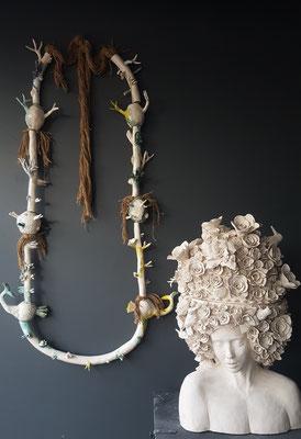 "Mélanie Broglio  "" coffre à bijoux"" faïence - Galerie Gabel-Biot"
