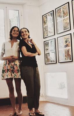 Valerie Gaidoz et Charlotte Janis pour son solo show (2018)