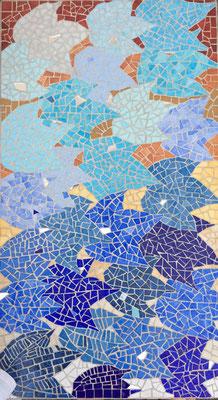 Plateau de table en mosaïque de Sophie Allain
