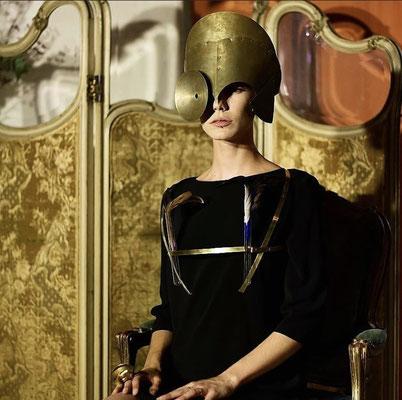 """Madame Ernest, défilé """"Bijoux"""" pendant les Nocturnes d'art de Biot, organisées par l'association des commerçants (CAPL)"""