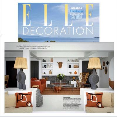 Elle Decoration , Dominique Pouchain, céramiste dans magazine de décoration