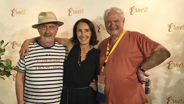 Avec les artistes, Claude Pelletier et Jean-Paul van Lith à BIOT