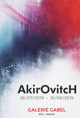 AKIROVTCH    technique mixte sur toile - GALERIE GABEL -BIOT- COTE D'AZUR -ST PAUL DE VENCE -CANNES -MONACO