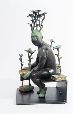 Francesca Dalla Benetta, sculptures en bronze- Galerie Gabel-Biot- Côte d'Azur