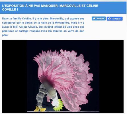 Exposition Marcoville,  halle de la Morandière, Fondettes, 2021
