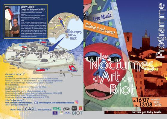 Nocturnes d'art de Biot 2020, nocturnes, cote d'azur, biot, provence, village provençal, village perché, France