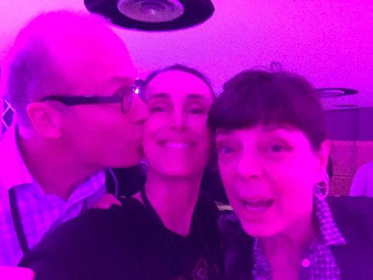 Avec l'artiste Phil Bilen et la galeriste Sylvie Derumier à Lille pour les 10 ans de Lille Art Up (2017)