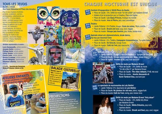 Programme des Nocturnes d'art de Biot 2019