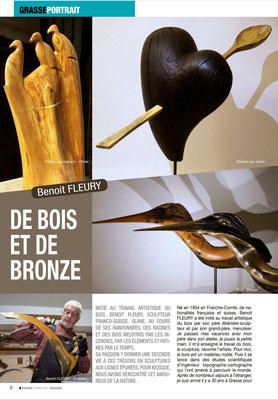 Benoit Fleury, sculpteur,  dans la presse Kiosque. Fevrier 2021