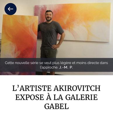 AkirOvitch, nouveaux travaux, Brumes de couleurs