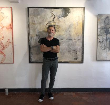 Philippe Croq lors de son solo show Galerie Gabel (2019)