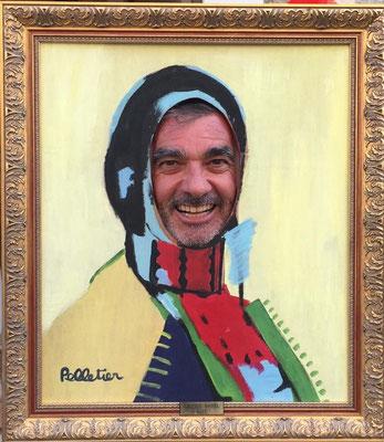 Michel Soubeyrand en visite à la galerie Gabel à Biot (2018)