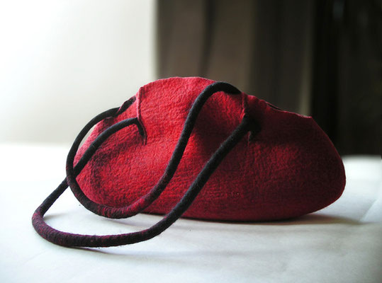 """Magma""  ZoeBo handbag collection , www.feltandpaper.net"