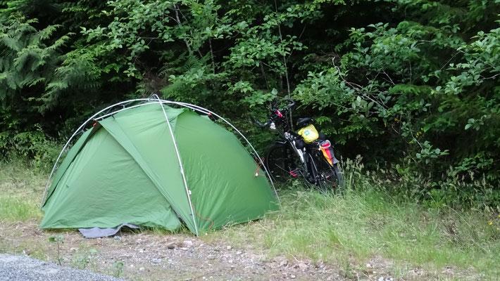 Übernachtung am Trail