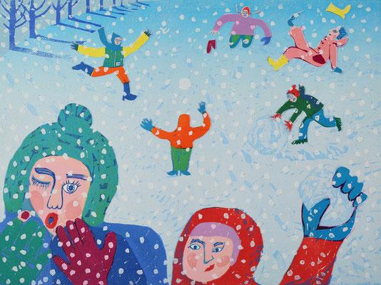 「雪カラ、フルひと」2012 長野県入笠山にて
