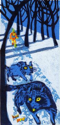 2011年 木版画 「思えばかなう」