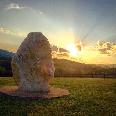 Sonnenuntergang am großen Kristall
